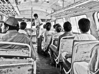dans le bus près de Cempoala (Mexique 1988) - Gustav Eckart, Photographie