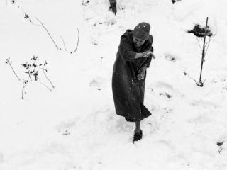 Großmutter bei der Schneeballschlacht - Gustav Eckart, Fotografie