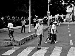 Zebrastreifen in Merida (Mexiko 1988) - Gustav Eckart, Fotografie