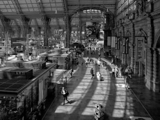 Dans la gare de Francfort - Gustav Eckart, Fotografie