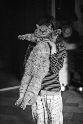 jeune fille avec chat - Gustav Eckart, Photographie