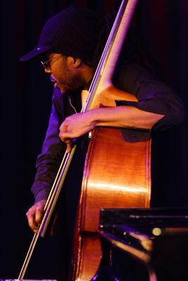 Gerald Clayton Trio - Joe Sanders 20140711 - Gustav Eckart, Fotografie