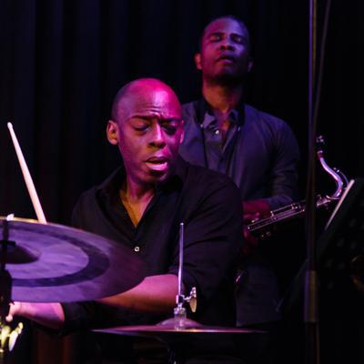 Kenny Werner David Sanchez Quartett - E J Strickland David Sanchez 20140516 - Gustav Eckart, Photographie