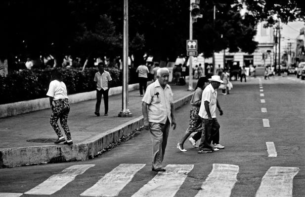 cross-walk in Merida (Mexico 1988) - Gustav Eckart, Photography