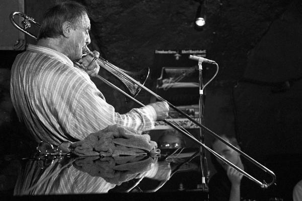 Albert Mangelsdorff Jazzkeller 1989 1 - Gustav Eckart, Fotografia